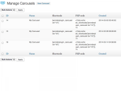 Manage multiple carousels
