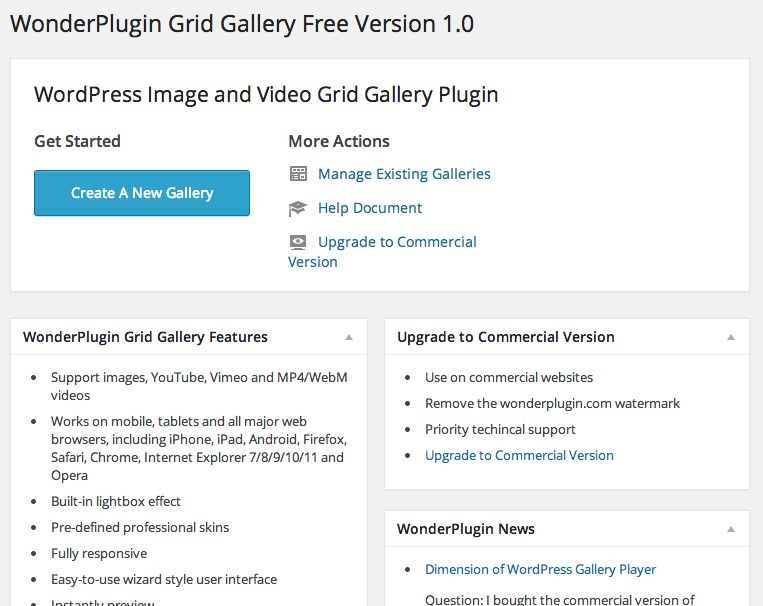 WordPress Grid Gallery Overview
