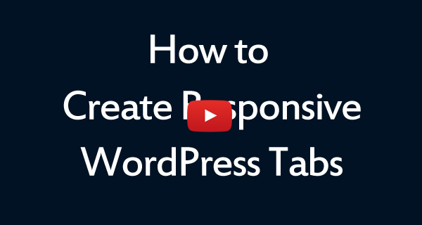 Responsive WordPress Tabs