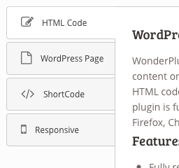 Vertical WordPress Tabs