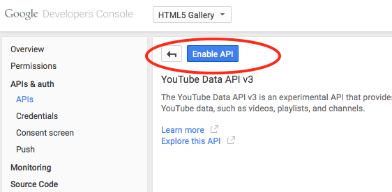 youtube-enable-api