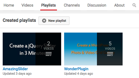 WordPress YouTube Playlist Gallery | WordPress Plugin