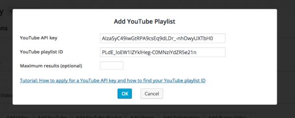 youtubeplaylistid