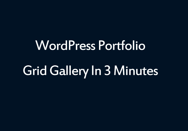 Wordpress Portfolio Grid Gallery