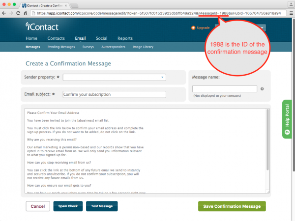 iContact WordPress Email Form Double Opt-in