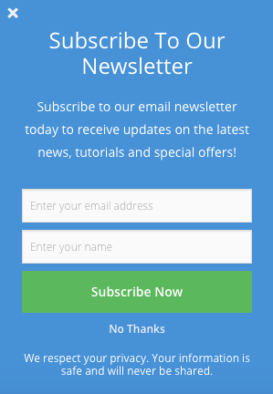 70406eef42dfc WordPress Popup Plugin for Email Signup Form | WordPress Plugin