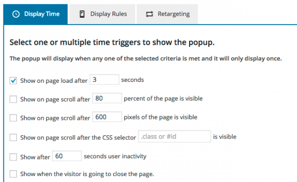 WordPress Popup Display