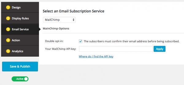 Wordpress Popup for MailChimp