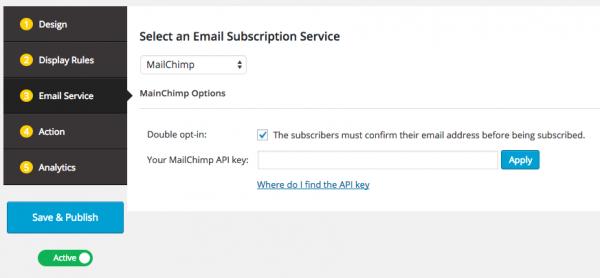 Wordpress Popup for MailChimp
