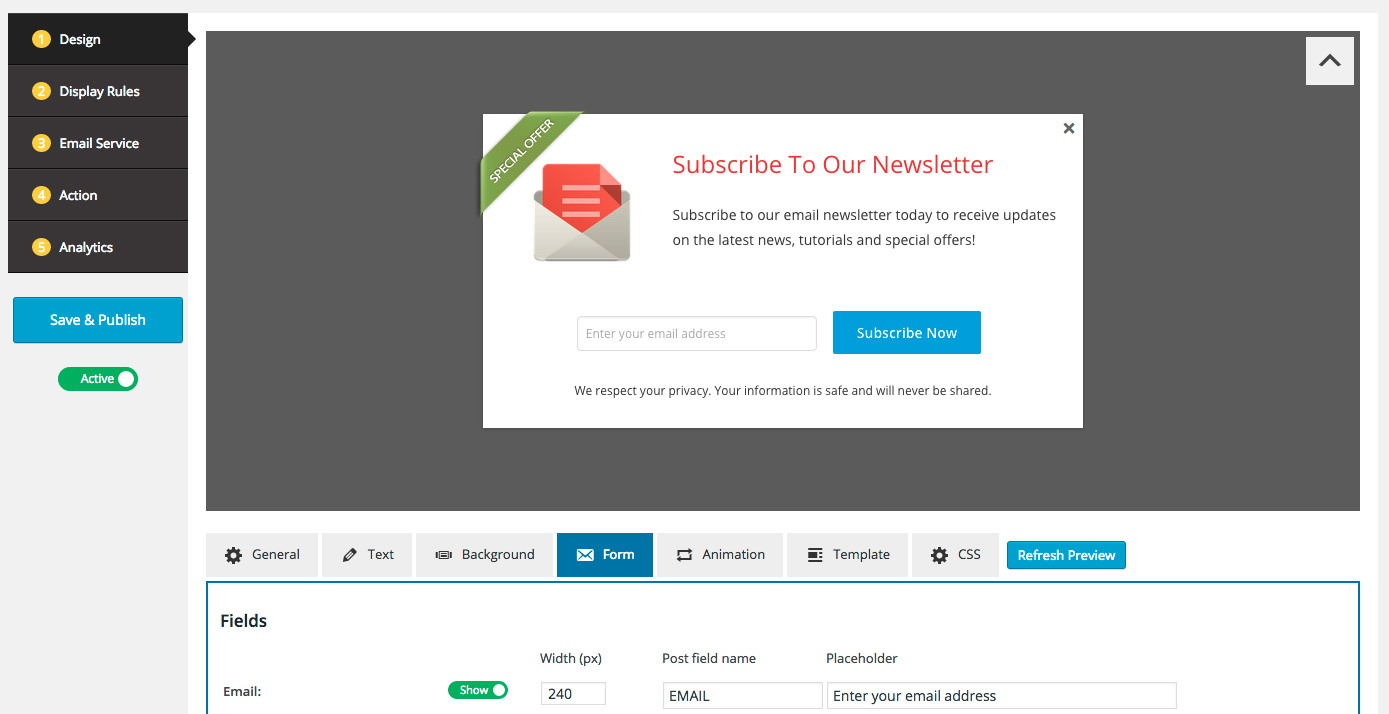 Wordpress Popup Plugin For Email Signup Form Wordpress