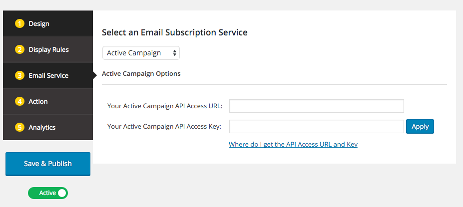 1ed77084ca389 How to create WordPress email subscription popup for ActiveCampaign ...
