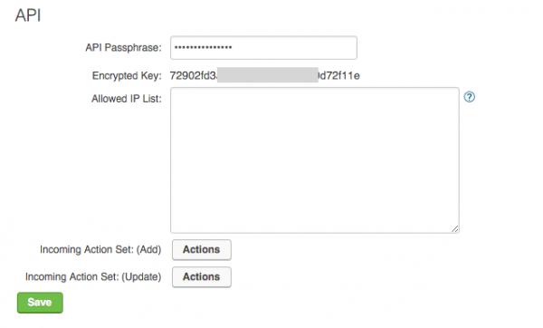 Infusionsoft API key
