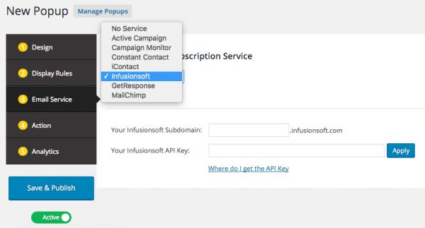 WordPress Infusionsoft Email Form