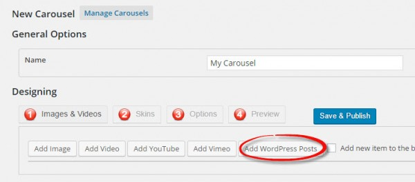 New WordPress Carousel