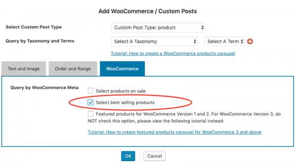 woocommerce best selling products carousel