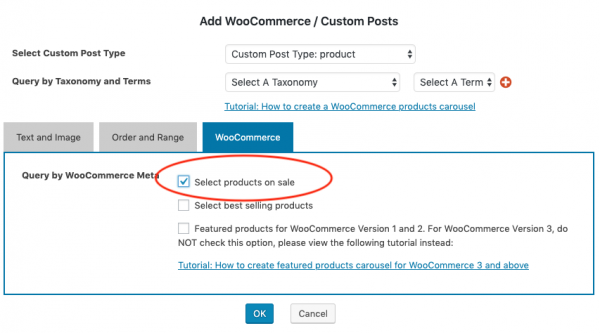 woocommerce on sale products carousel