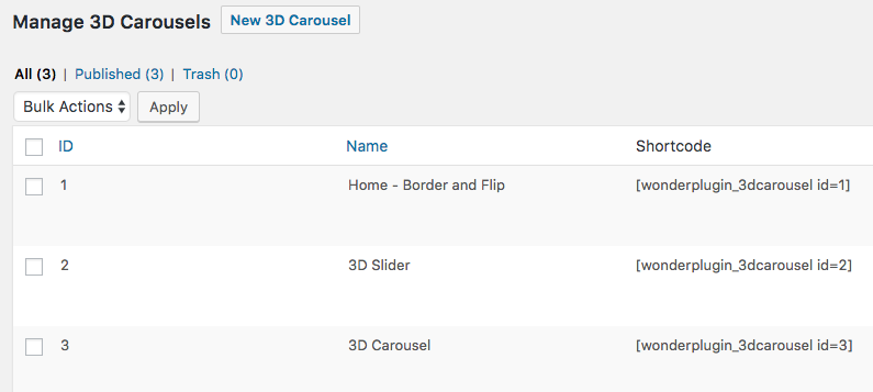 WordPress 3D Carousel Slider