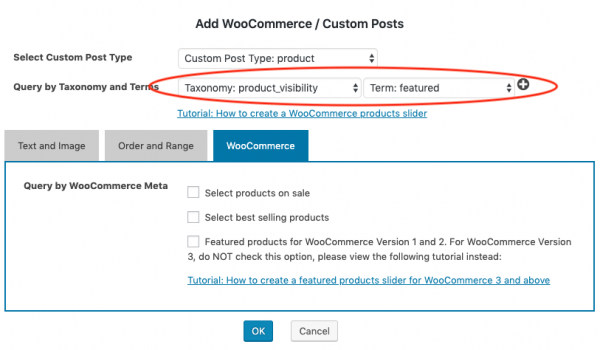 woocommerce featured products slider