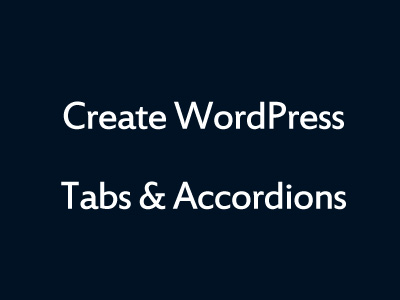 WordPress Tabs Plugin