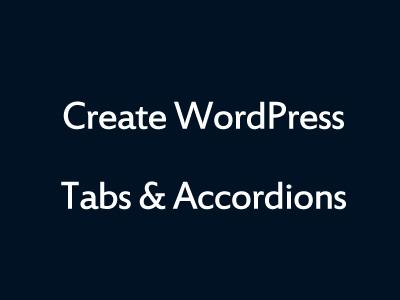 WordPress Tabs Plugin