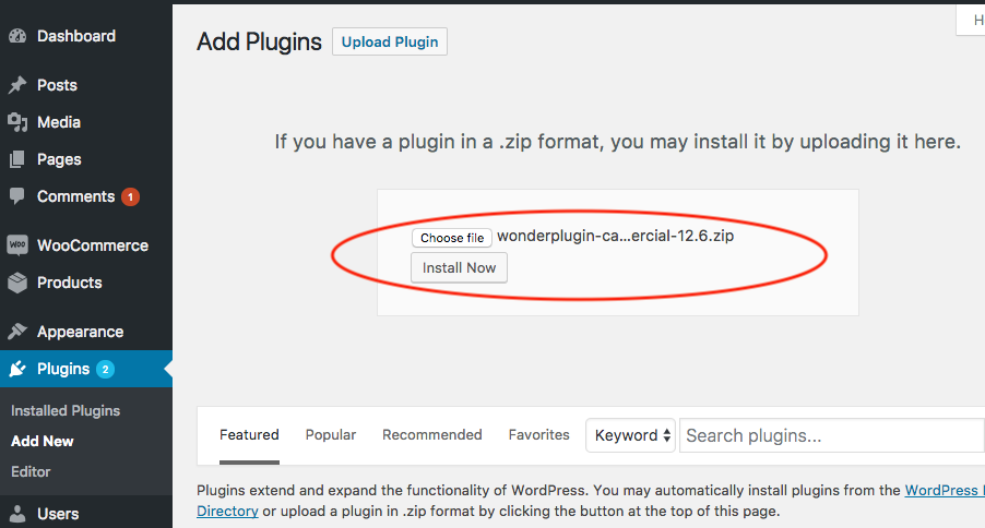 How to install a WordPress plugin from a ZIP file