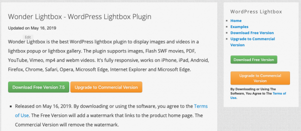 WordPress Lightbox Plugin