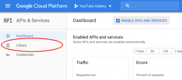apply for a YouTube API Key