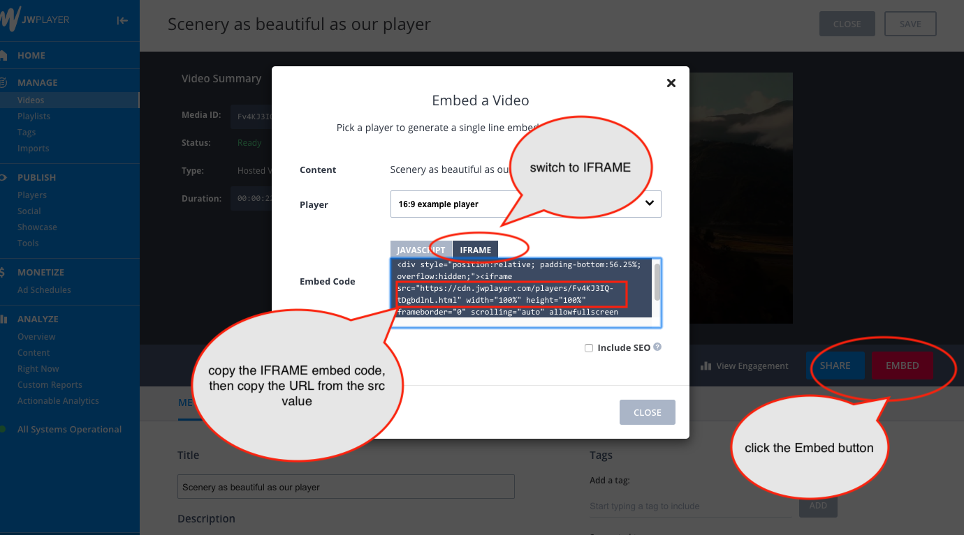 How to open JW Player in 3D Carousel | WordPress and