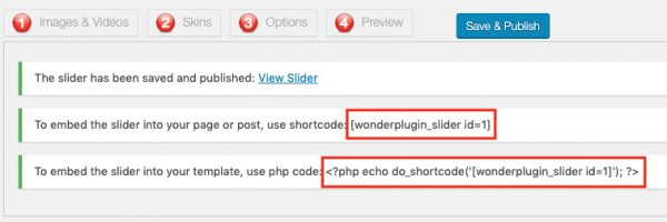 WordPress Slider Shortcode