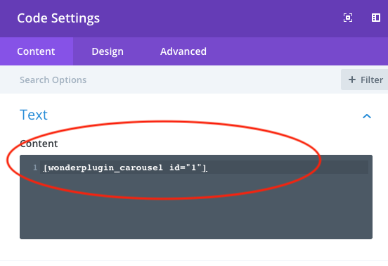 divi add carousel shortcode