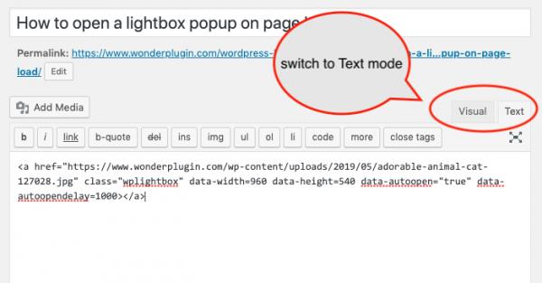 wordpress classic editor add htmlcode