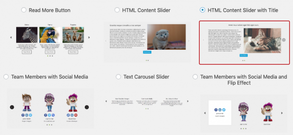 wordpress html content slider skins