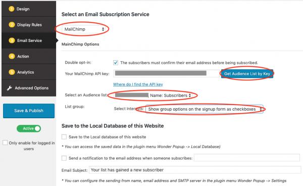 wordpress mailchimp email popup