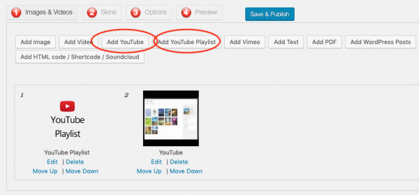 wordpress youtube carousel