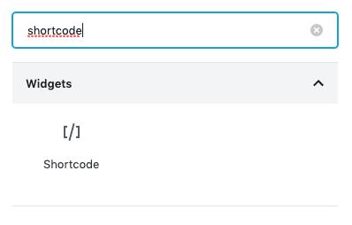 gutenberg add shortcode