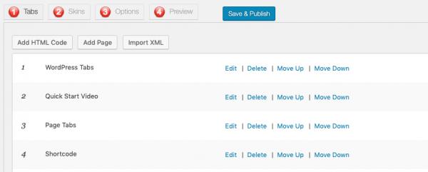 wordpress tabs add content