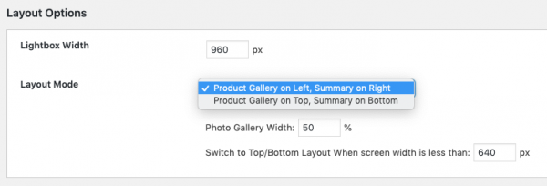 woocommerce lightbox layout
