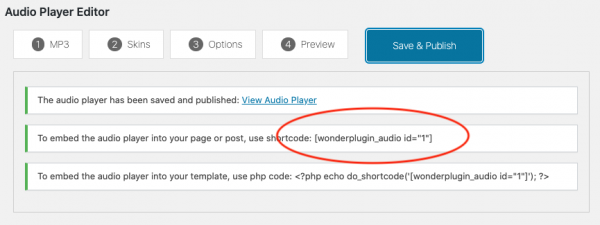 wordpress-audio-player-shortcode