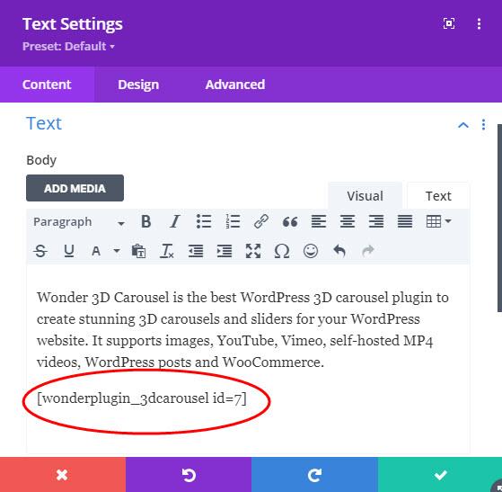 wordpress-3d-carousel-divi-text