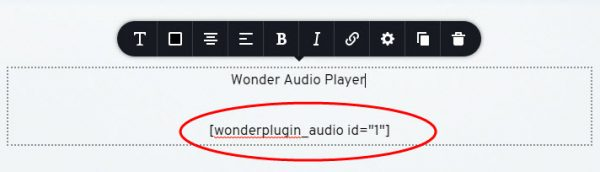 wordpress-audio-brizy-text