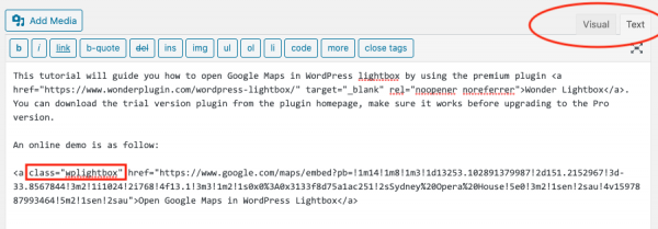 google-maps-wordpress-lightbox